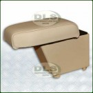 Arm-rest Cubby Box Leather Almond - Freelander 2 LHD