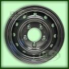 Wolf Style Steel Road Wheel Blk 16x6.5J - Defender 90/110