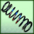 RH Front Coil Spring - Tdi Discovery 1 VIN KA038878 to MA116460 Red/Pink/Blue