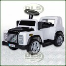 6Volt Children's Sit On Electric Land Rover Defender White DA1517