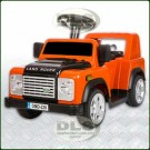 6Volt Children's Sit On Electric Land Rover Defender Orange DA1518
