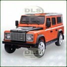 12Volt Childrens Ride On Orange Land Rover Defender