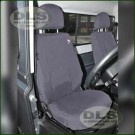 Waterproof Grey Seat Cover Set Front Land Rover Defender 2007 MY on DA2818GREY