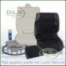 Outer Seat Re-trim Kit BLACK MESH c/w Adhesive - Defender to 2007