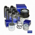 Service Filter Kit and Oil BRITPART - Defender 2.5na and Turbo
