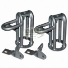 Twin Shock Absorber Mounting Turret Front Set +2 inch extra height Land Rover Disco1, RRC, Defender