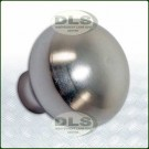 Dashboard Vent Flap Knob Aluminium Silver Land Rover Defender VIN 2A622424 on DA8948