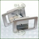 Door Handle Surround Set Alloy Silver - Defender