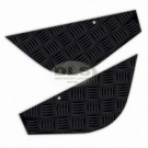 Corner Chequer Plate Set Rear Black Land Rover Series 2/2a/3 SWB 88 LR78B