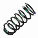 Passenger Side Rear Coil Spring Green/White - Defender 110 with Levelled Suspension