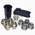Locking Wheel Nut Set 4pcs inc Caps Range Rover P38 RRB100370