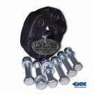 Propshaft Rubber Damper Kit with Bolts and Bush - Discovery 1, Discovery 2, R.Rover P38 GKN TVF100010
