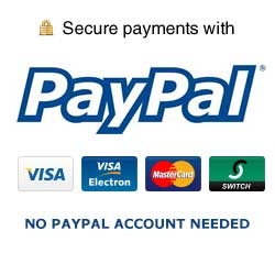 Secure Payments with PayPal - No PayPal account needed